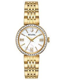 Women's Gold-Tone Stainless Steel Bracelet Watch 33mm Gift Set