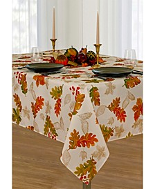 """Swaying Leaves Allover Print Fall Tablecloth, 52""""x52"""""""