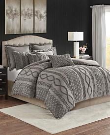 Madison Park Signature Aran Isles Tufted Chenille 9-Pc. Comforter Set