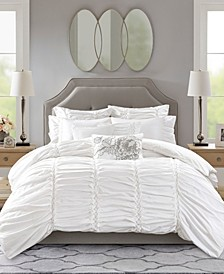 Gardenia Queen 8-Pc. Oversized Cotton Comforter Set