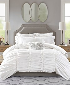 Madison Park Signature Gardenia Queen 8-Pc. Oversized Cotton Comforter Set