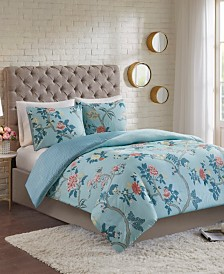 Madison Park Charleston Garden 3-Pc. Reversible Printed Seersucker Duvet Cover Sets