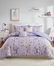 Navi Full/Queen 5 Piece Printed Comforter Set