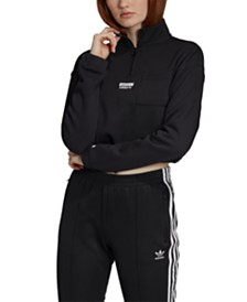 adidas Originals Vocal Cotton Cropped Half-Zip Sweatshirt