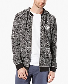 Men's Alpha Regular-Fit Stretch Paisley-Print Hoodie