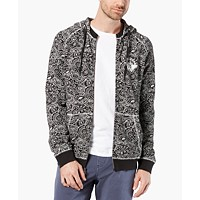 Deals on Dockers Mens Alpha Regular-Fit Stretch Paisley-Print Hoodie