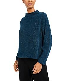 Organic Cotton Mock-Neck Textured Sweater