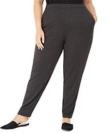 Plus Size Slim Ankle Slouchy Pants