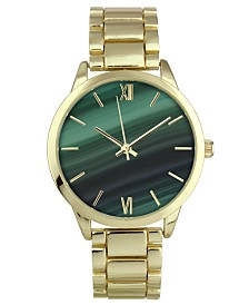 I.N.C. Women's Gold-Tone Bracelet Watch 39mm, Created for Macy's