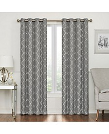 Lakewood Embroidery Blackout Grommet Curtain