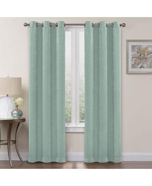 """Regal Home Chevron Blackout 2-Pack Grommet Curtain, 108"""" X"""