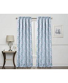 Regal Home Laila Print 100% Blackout Grommet Curtain
