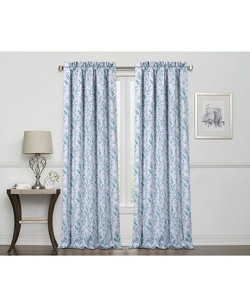 Regal Home Laila Print 100% Blackout Grommet Curtain