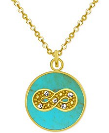 "Gold-Tone Crystal Infinity 18"" Pendant Necklace"