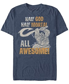 Disney Men's Moana Demi God All Awesome Short Sleeve T-Shirt