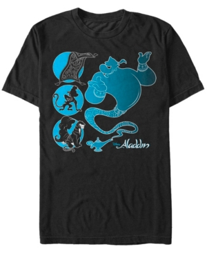 Disney Men's Aladdin Silhouette Characters Short Sleeve T-Shirt