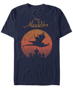 Disney Men's Aladdin Jasmine Silhouette Over Agrabah Vintage Short Sleeve T-Shirt