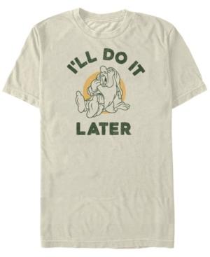 Disney Men's Snow White Sleepy I'll Do it Later Short Sleeve T-Shirt