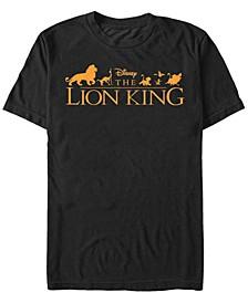 Disney Men's The Official Movie Logo Short Sleeve T-Shirt