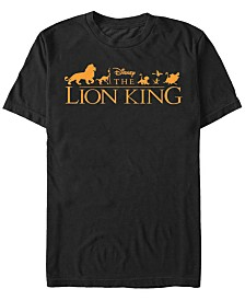 Disney Men's The Lion King Official Movie Logo Short Sleeve T-Shirt