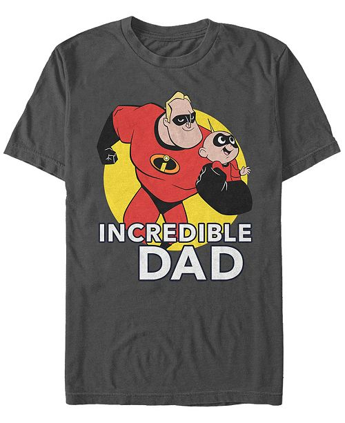 The Incredibles Disney Pixar Men's The Best Father Short Sleeve T-Shirt