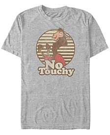 Disney Men's Emperor's New Groove Kuzco Llama No Touchy Short Sleeve T-Shirt