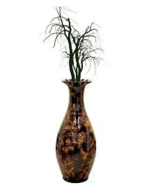 Traditional Trumpet Shaped Floor Vase, 36 Tall