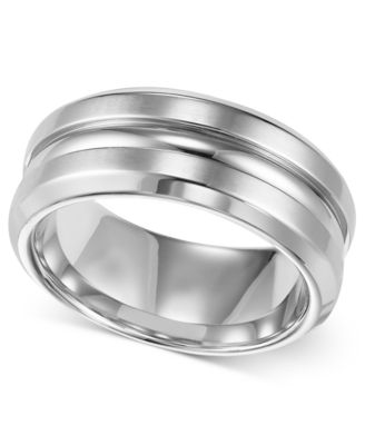 Triton Mens Stainless Steel Ring 8mm Wedding Band
