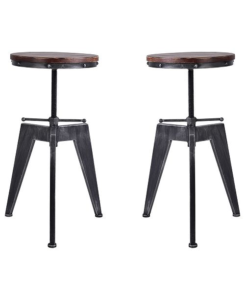 Fine Simon Industrial Backless Adjustable Metal Barstool In Brushed With Rustic Pine Wood Seat Set Of 2 Evergreenethics Interior Chair Design Evergreenethicsorg