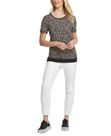 DKNY Leopard-Print T-Shirt