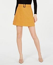 Juniors' Buckled Mini Skirt