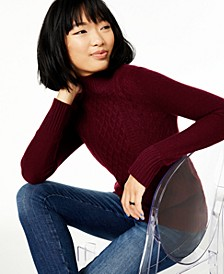 Cashmere Mock-Neck Cable Sweater, Created For Macy's