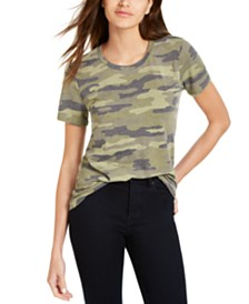Lucky Brand Camouflage-Print T-Shirt