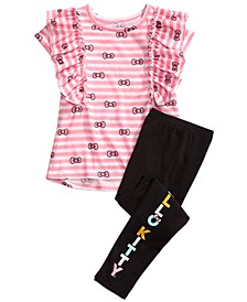 Little Girls 2-Pc. Ruffled Top & Leggings Set