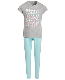 Champion Toddler Girls 2-Pc. T-Shirt & French Terry Jogger Pants Set