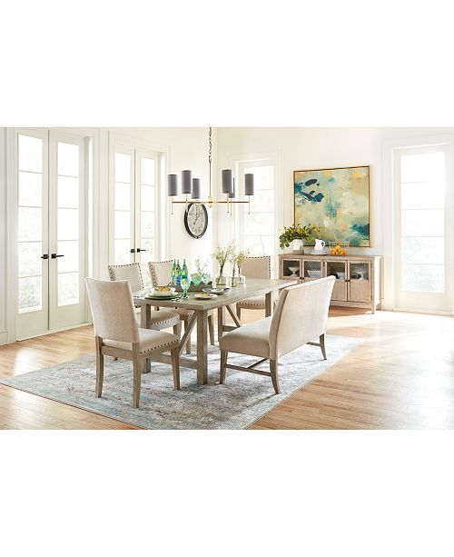 Awe Inspiring Parker Expandable Dining Furniture 6 Pc Set Table 4 Side Chairs Bench Created For Macys Pdpeps Interior Chair Design Pdpepsorg