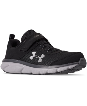Under Armour LITTLE BOY'S ASSERT 8 STAY-PUT CLOSURE ATHLETIC TRAINING SNEAKERS FROM FINISH LINE