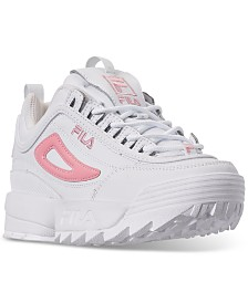 Fila Girls' Disruptor 3 Metallic Flag Casual Sneakers from Finish Line