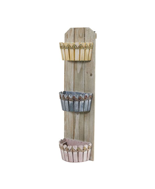 Nearly Natural 35-In. Triple Wall Planter
