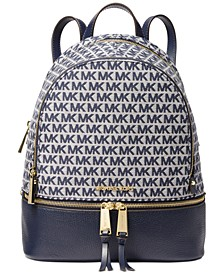 Rhea Jacquard Signature Backpack