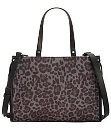 INC Remmey Leopard Print Satchel, Created for Macy's