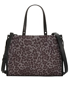 I.N.C. Remmey Leopard Print Satchel, Created for Macy's