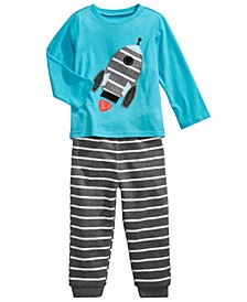 Baby Boys Rocket T-Shirt & Striped Jogger Pants, Created for Macy's