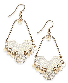 INC Gold-Tone Openwork Shaky Disc Drop Earrings, Created For Macy's