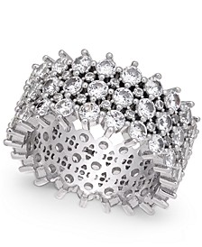 INC Silver-Tone Pavé Ring, Created for Macy's