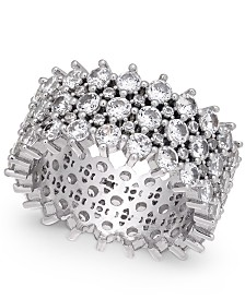I.N.C. Silver-Tone Pavé Ring, Created For Macy's