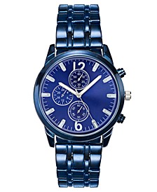 INC Men's Blue-Tone Bracelet Watch 48mm, Created For Macy's