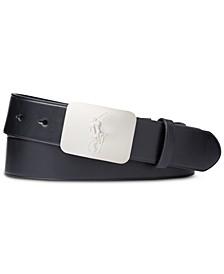 폴로 랄프로렌 벨트 Polo Ralph Lauren Mens Pony-Plaque Leather Belt