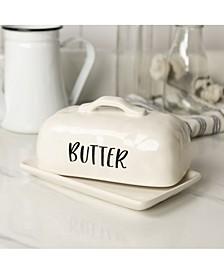VIP Home International Ceramic Butter Dish