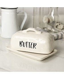 VIP Home International Ceramic Butter Dish